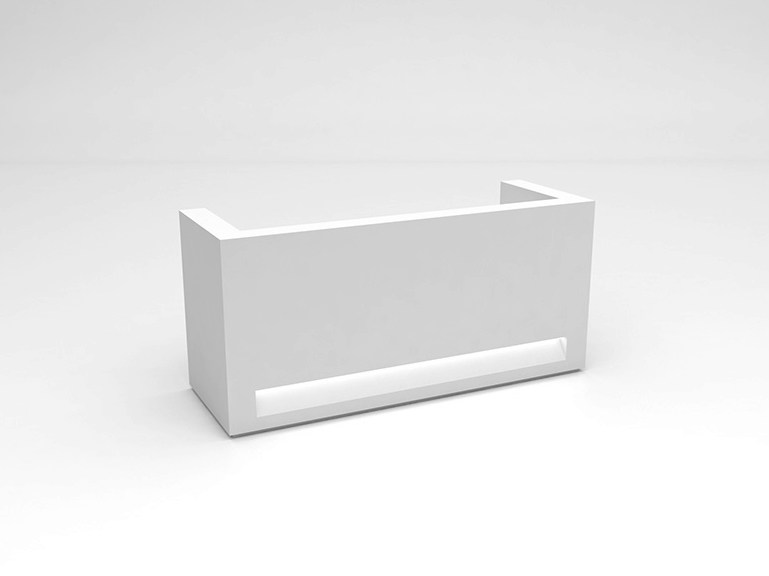 Modular Solid Surface® reception desk BLOK | Configuration 3 - Isomi