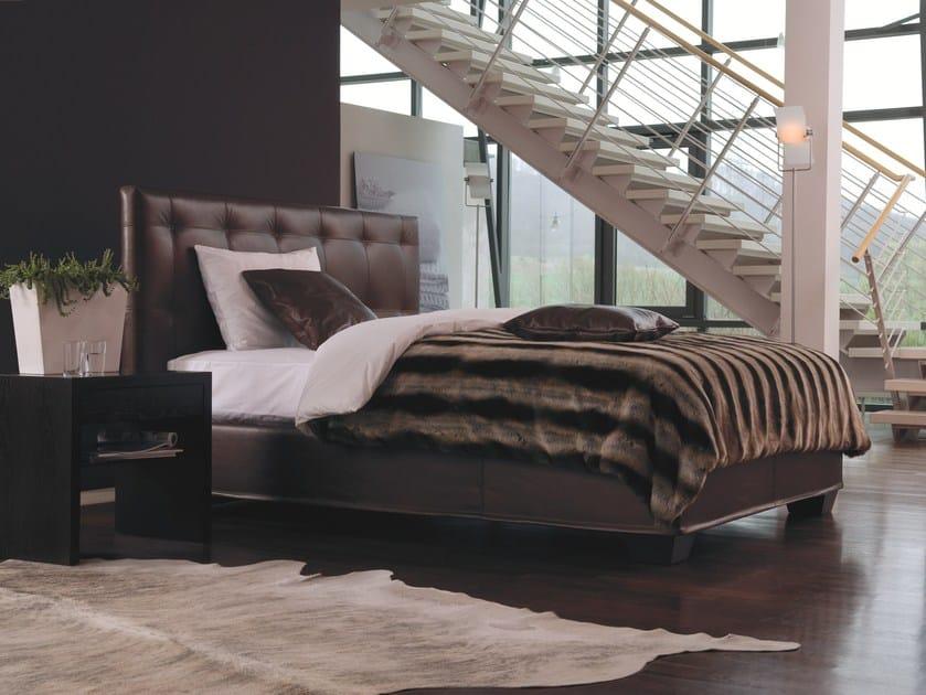 lit double rembourr en cuir basis 25 quadro by schramm werkst tten. Black Bedroom Furniture Sets. Home Design Ideas
