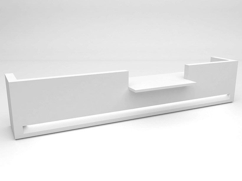 Modular Solid Surface® reception desk BLOK | Configuration 7 - Isomi