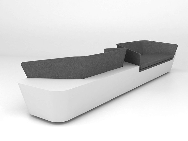 4 seater Solid Surface® sofa MONO SEAT | Configuration 4 - Isomi