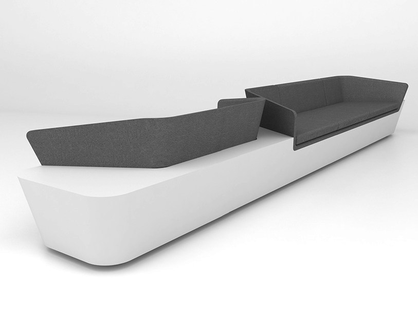 5 seater Solid Surface® sofa MONO SEAT | Configuration 5 - Isomi