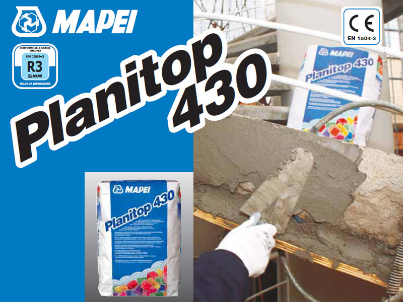 Mortar and grout for renovation PLANITOP 430 - MAPEI