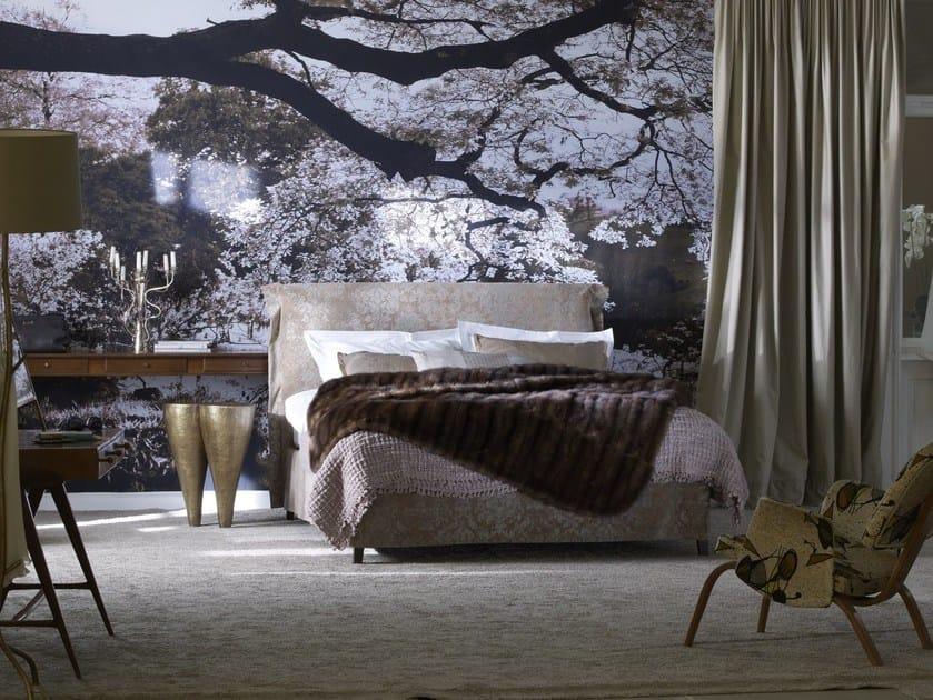 Upholstered fabric double bed Basis 18 + GLORIA-2 by Schramm Werkstätten
