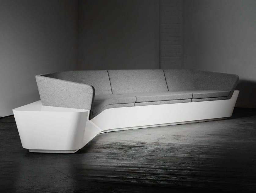 Corner Solid Surface® sofa MONO SEAT | Configuration 6 - Isomi