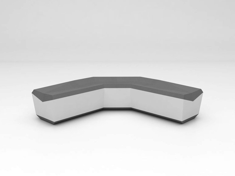 Solid Surface® bench seating FOLD SEAT | Configuration 4 by Isomi