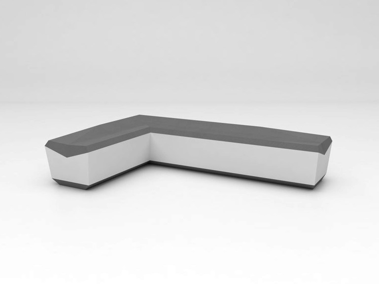 Solid Surface® bench seating FOLD SEAT | Configuration 5 - Isomi