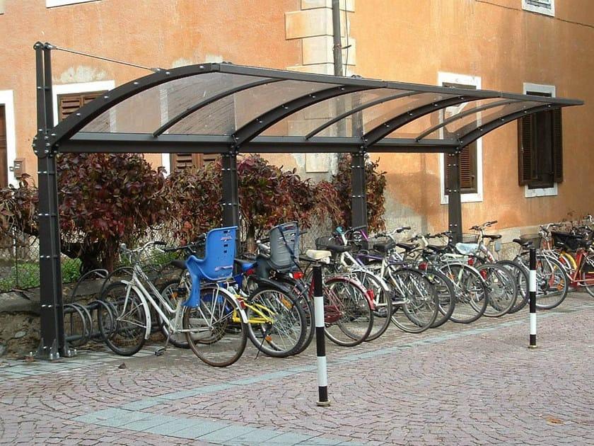 Pensilina per biciclette e motorini martina doppia for Bellitalia arredo urbano