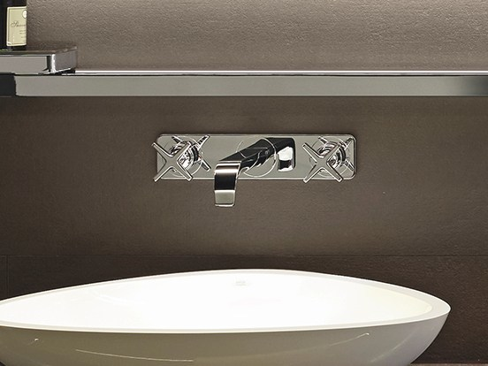 Wall-mounted washbasin tap with plate AXOR CITTERIO E | Washbasin tap with plate - HANSGROHE