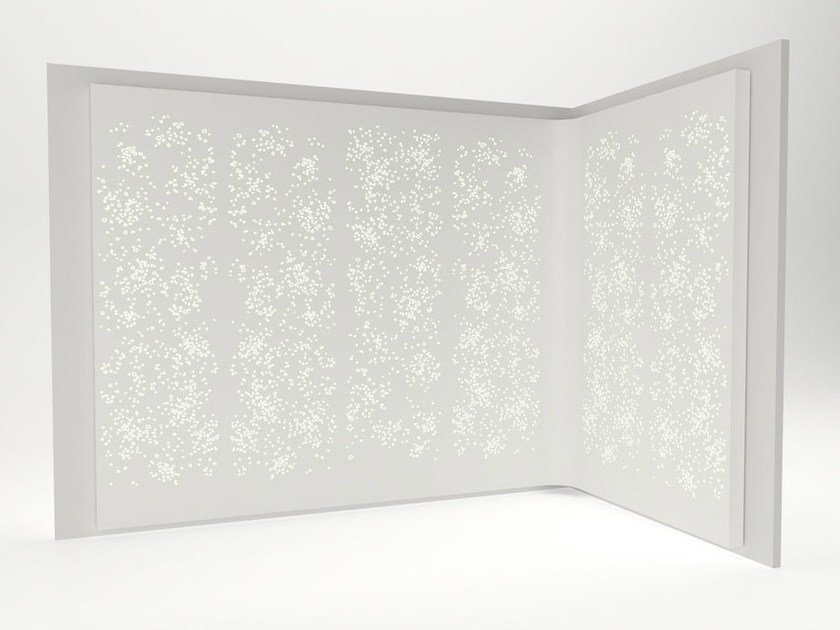 Solid Surface® wall tiles / room divider LIGHT WALL | Solid Surface® wall tiles - Isomi
