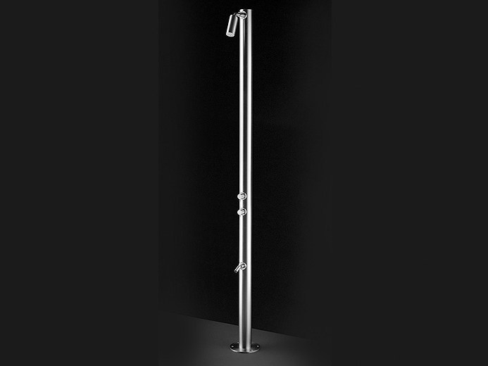 Stainless steel outdoor shower RAN 04 by Ceadesign