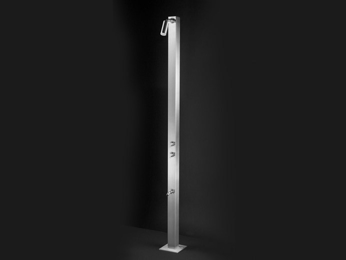 Stainless steel outdoor shower RAN 03 - Ceadesign S.r.l. s.u.