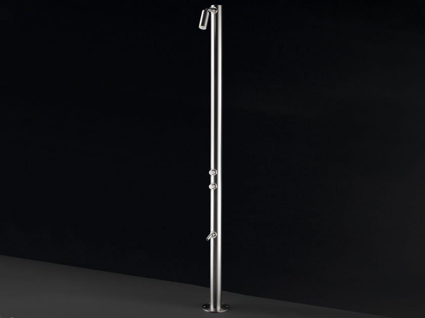 Stainless steel outdoor shower RAN 02 - Ceadesign S.r.l. s.u.