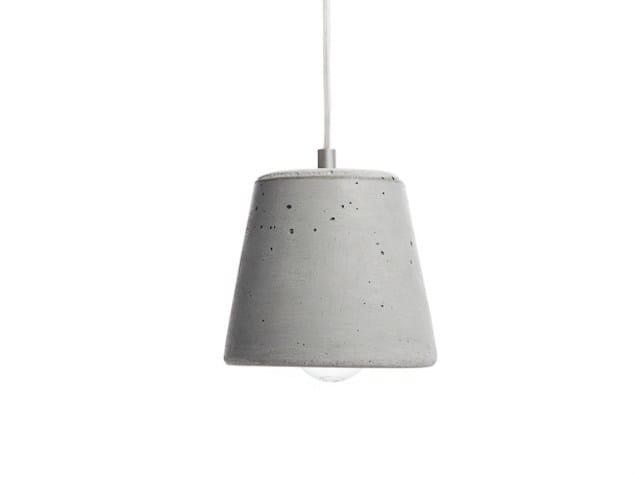 Concrete pendant lamp CALIX 14 - URBI et ORBI