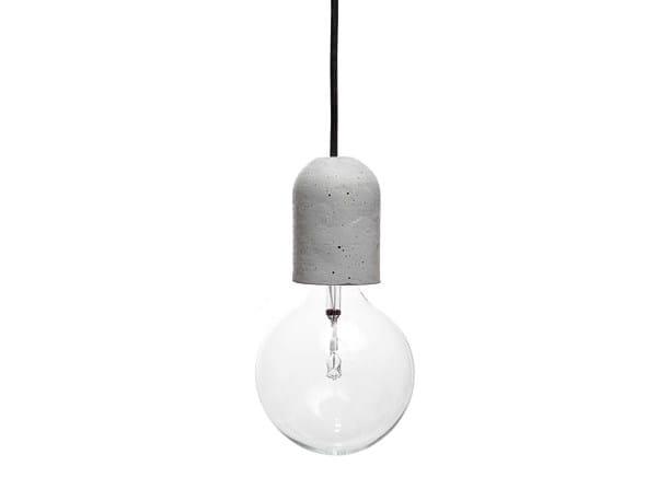 Concrete pendant lamp DOLIO - URBI et ORBI