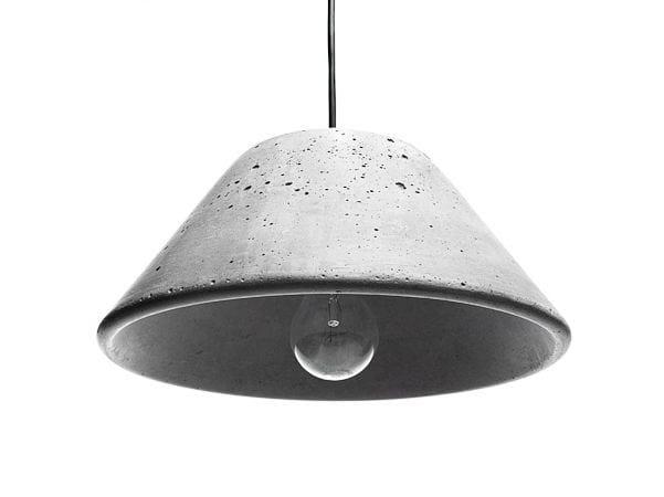 Concrete pendant lamp MONS 280 - URBI et ORBI