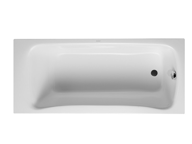 Corner built-in acrylic bathtub PURAVIDA | Built-in bathtub - DURAVIT