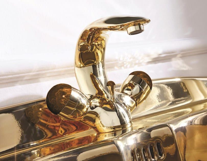 Countertop 1 hole brass washbasin tap PERSIA STONE | 1 hole washbasin tap - Giulini G. Rubinetteria