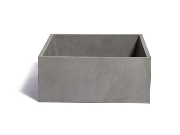 Countertop square Concrete and Cement-Based Materials washbasin IMMISSIO 40 - URBI et ORBI