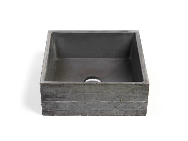 Countertop square Concrete and Cement-Based Materials washbasin INVIVO 40 by URBI et ORBI