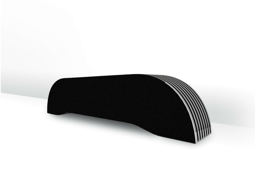 Floor-standing electric horizontal radiator CURVE - FOURSTEEL