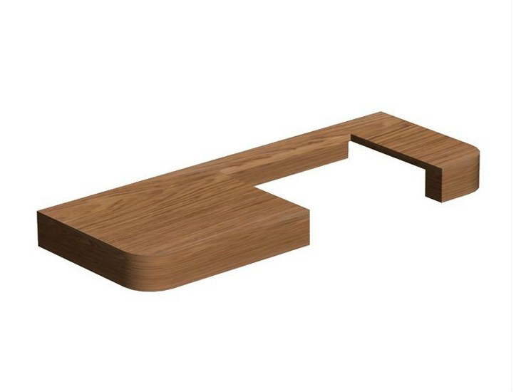 Single wooden washbasin countertop NEOX | Single washbasin countertop - NOKEN DESIGN
