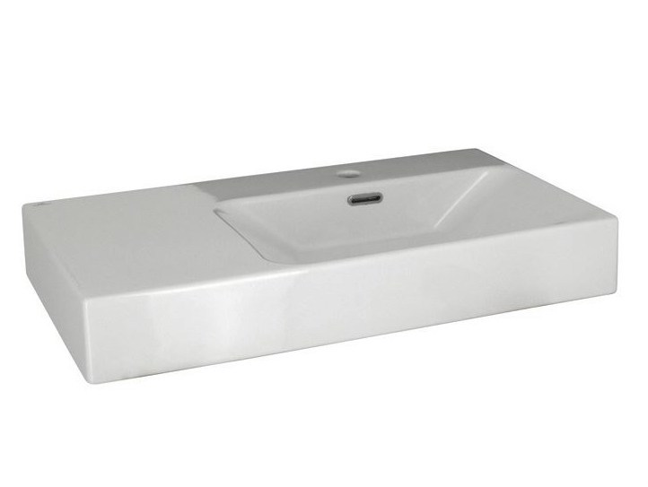 Rectangular single washbasin with overflow ESSENCE-C | Washbasin - NOKEN DESIGN