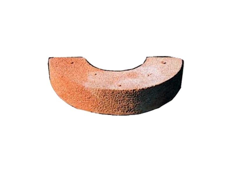 Special caly piece for fairfaced facade MEZZALUNA CON FORO - FORNACE FONTI