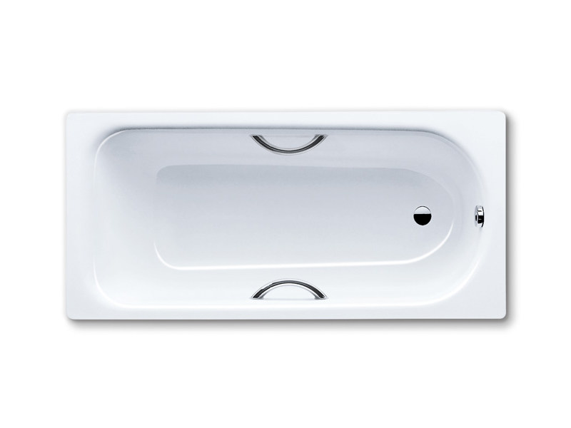 Rectangular built-in enamelled steel bathtub SANIFORM PLUS STAR - Kaldewei Italia
