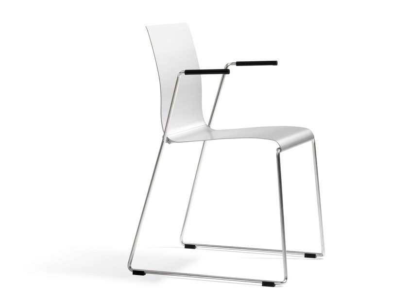 Sled base chair with armrests STING | Chair with armrests - Blå Station