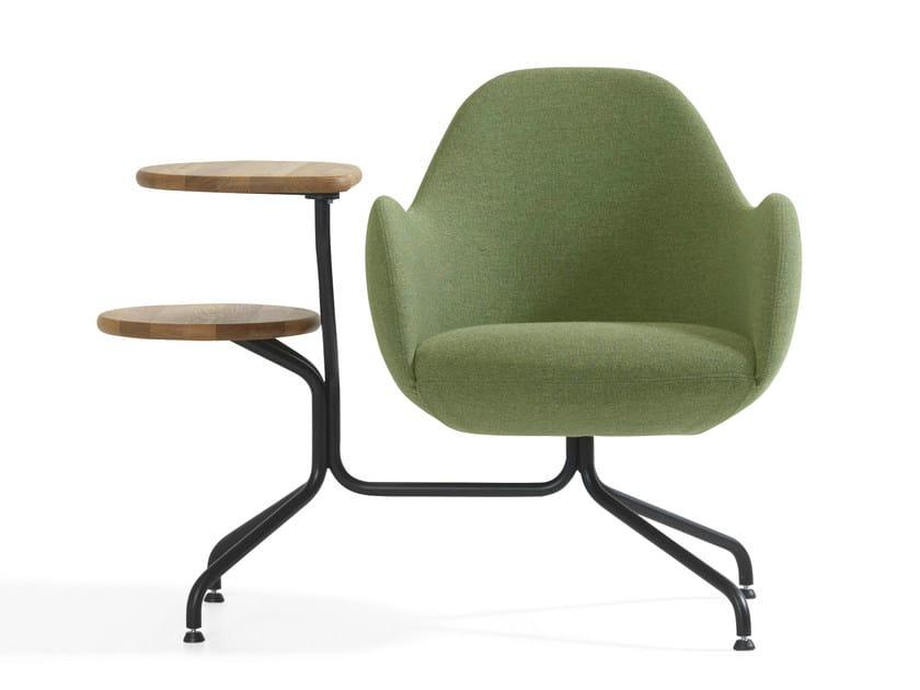 Trestle-based armchair with armrests WILMER CT - Blå Station