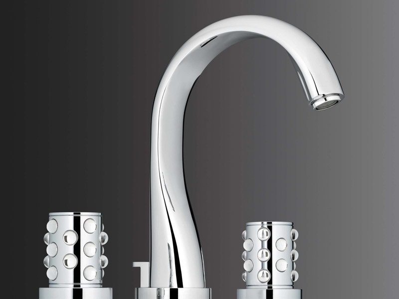 3 hole washbasin tap MOSSI CRISTAL CLAIR | Washbasin tap - INTERCONTACT