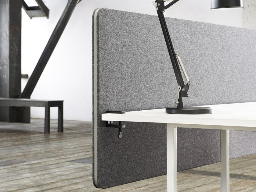 Modular workstation screen desktop partition Edge Table Screen by Lintex