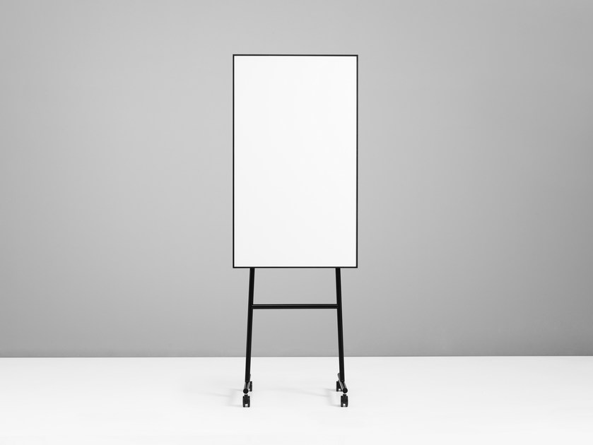 Magnetic office whiteboard with casters ONE Mobile Flip Chart - Lintex
