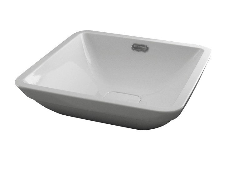 Semi-inset washbasin with overflow FORMA | Semi-inset washbasin - NOKEN DESIGN
