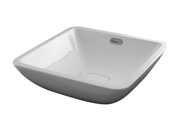 Countertop square washbasin with overflow FORMA | Square washbasin - NOKEN DESIGN