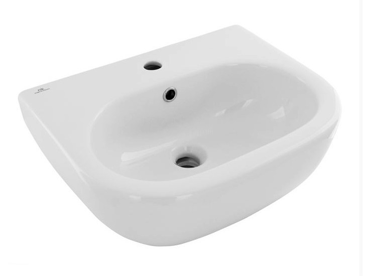 Oval wall-mounted handrinse basin with overflow ARQUITECT | Handrinse basin with overflow - NOKEN DESIGN