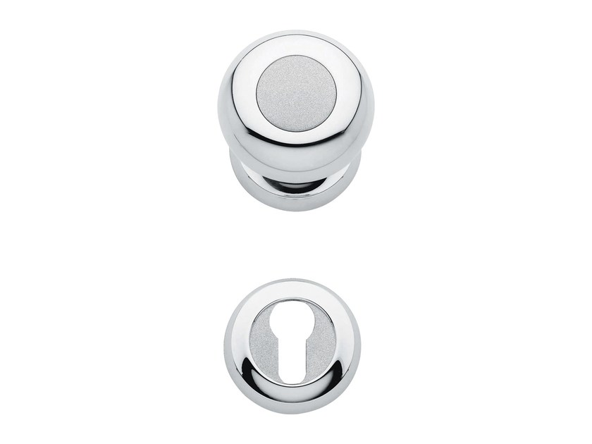 Classic style metal door knob with lock ELIKA | Door knob with lock by LINEA CALI'