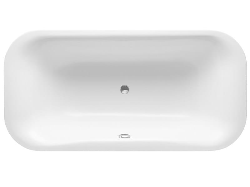 Freestanding rectangular acrylic bathtub PURAVIDA | Freestanding bathtub - DURAVIT
