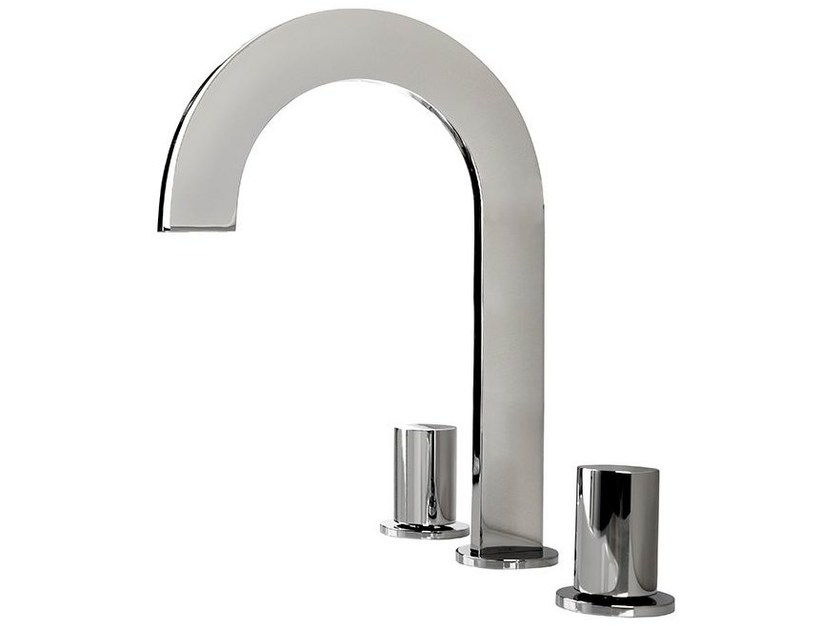 3 hole countertop washbasin tap GIRO | Washbasin tap - NOKEN DESIGN