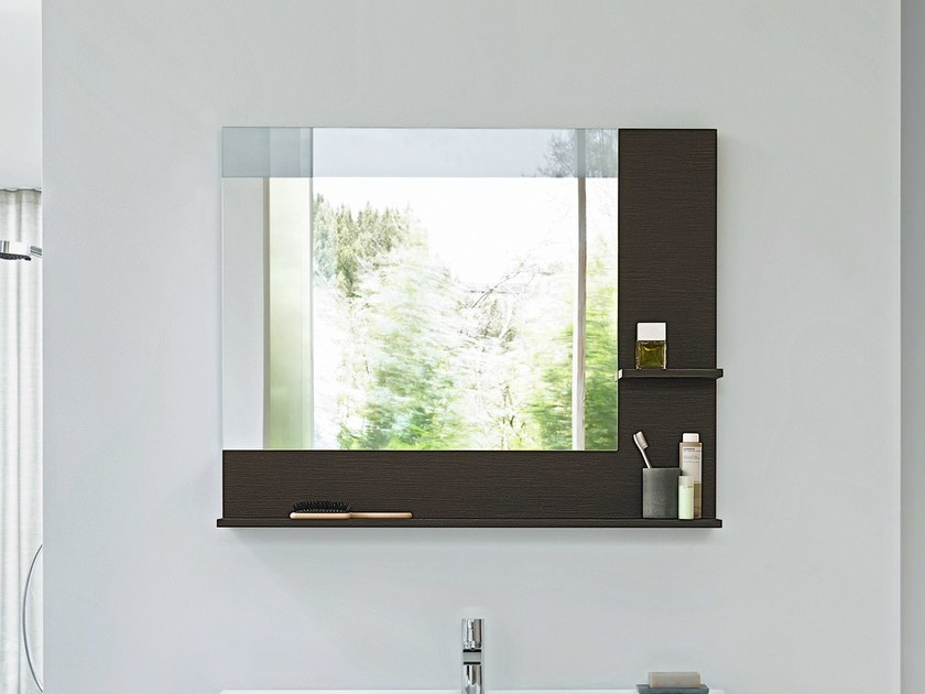 Wall-mounted bathroom mirror with integrated lighting VERO | Mirror with integrated lighting - DURAVIT