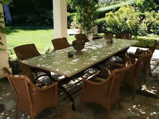 mesa jardim concreto : mesa jardim concreto:Mesa de jantar retangular de cimento para jardim CAMPAIGN – James De