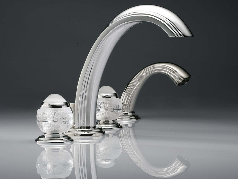 4 hole bathtub set with hand shower PANTHERE | Bathtub set by INTERCONTACT