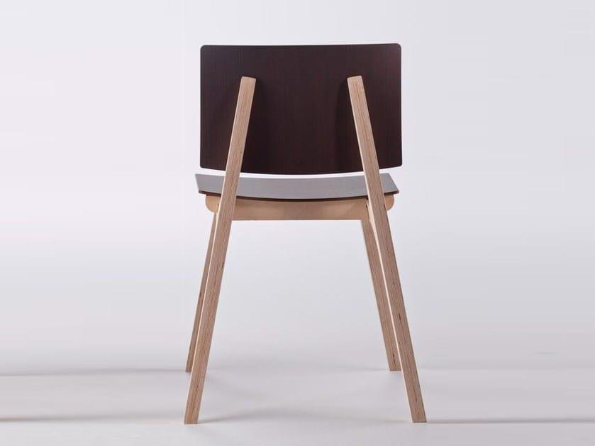 Multi-layer wood chair MIKADO - ONDARRETA