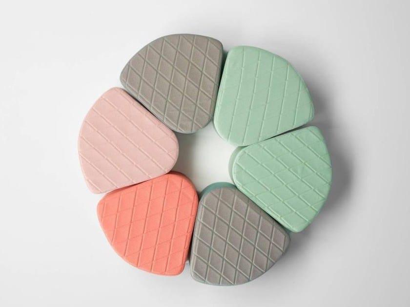 Upholstered fabric pouf AIA - ONDARRETA