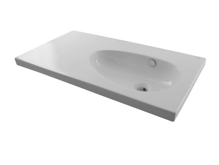 Inset washbasin with integrated countertop with overflow HOTELS | Inset washbasin - NOKEN DESIGN