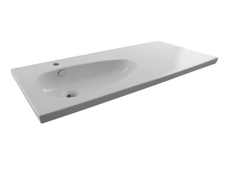Inset washbasin with integrated countertop with overflow HOTELS | Washbasin with integrated countertop by Noken