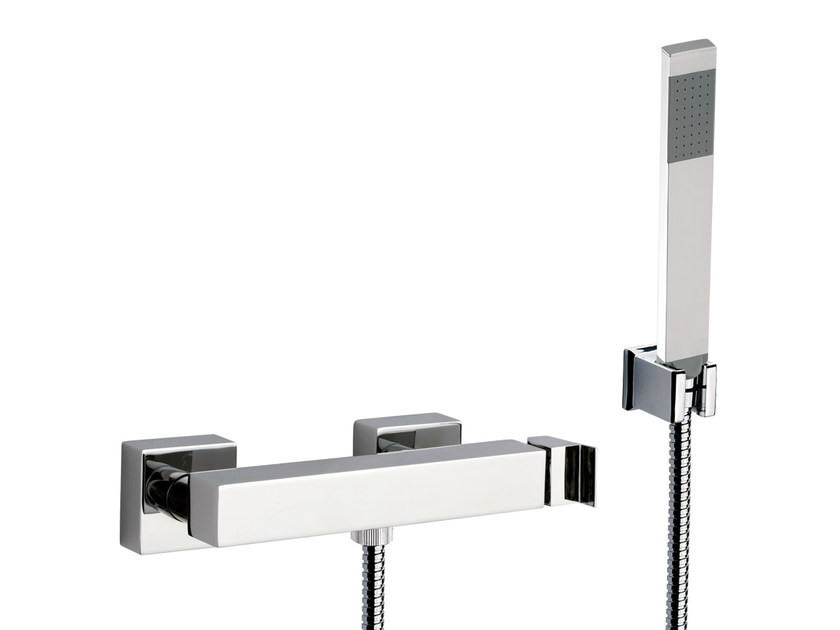 Single handle shower mixer with hand shower FLASH | Shower mixer with hand shower by Remer Rubinetterie