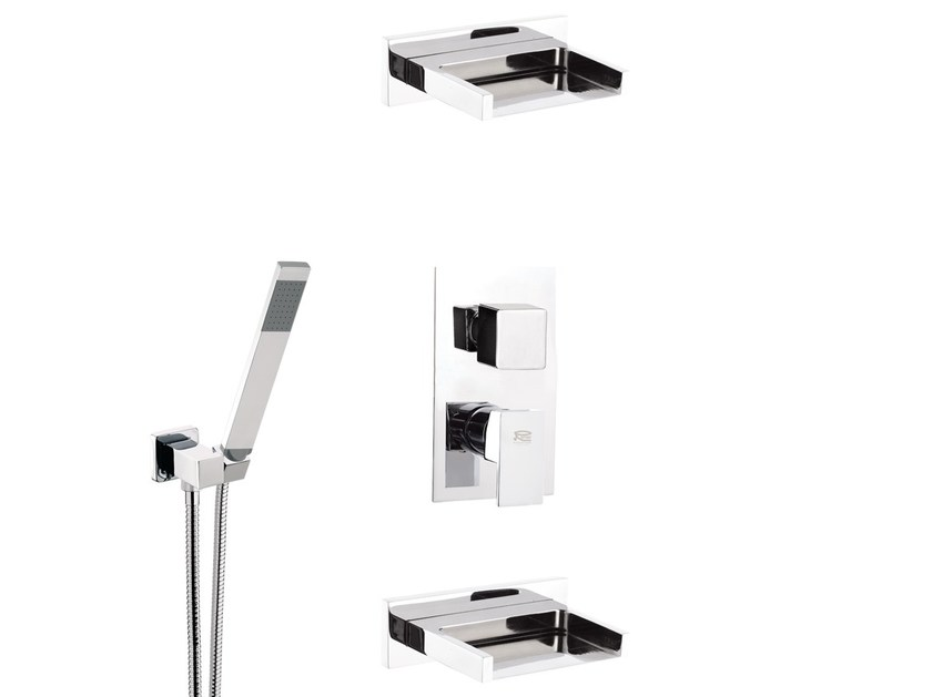 Shower mixer with diverter and hand shower FLASH | Set doccia - Remer Rubinetterie