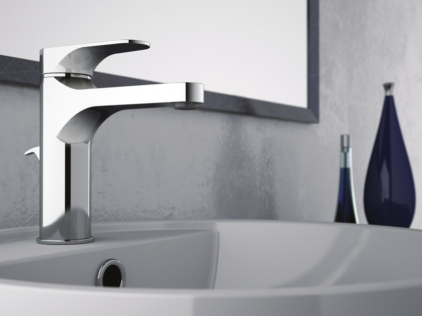 Chrome-plated countertop single handle washbasin mixer CLASS LINE | Chrome-plated washbasin mixer - Remer Rubinetterie