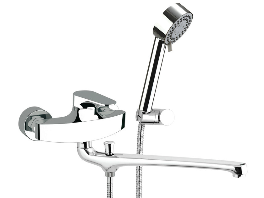 Wall-mounted bathtub mixer with hand shower CLASS LINE | Bathtub mixer - Remer Rubinetterie